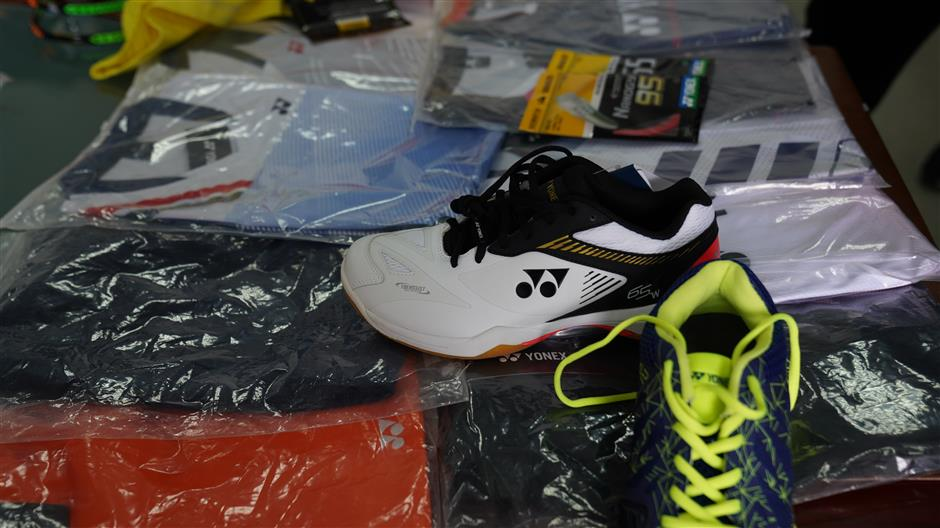 45 people apprehended for producing fake Yonex sportswear