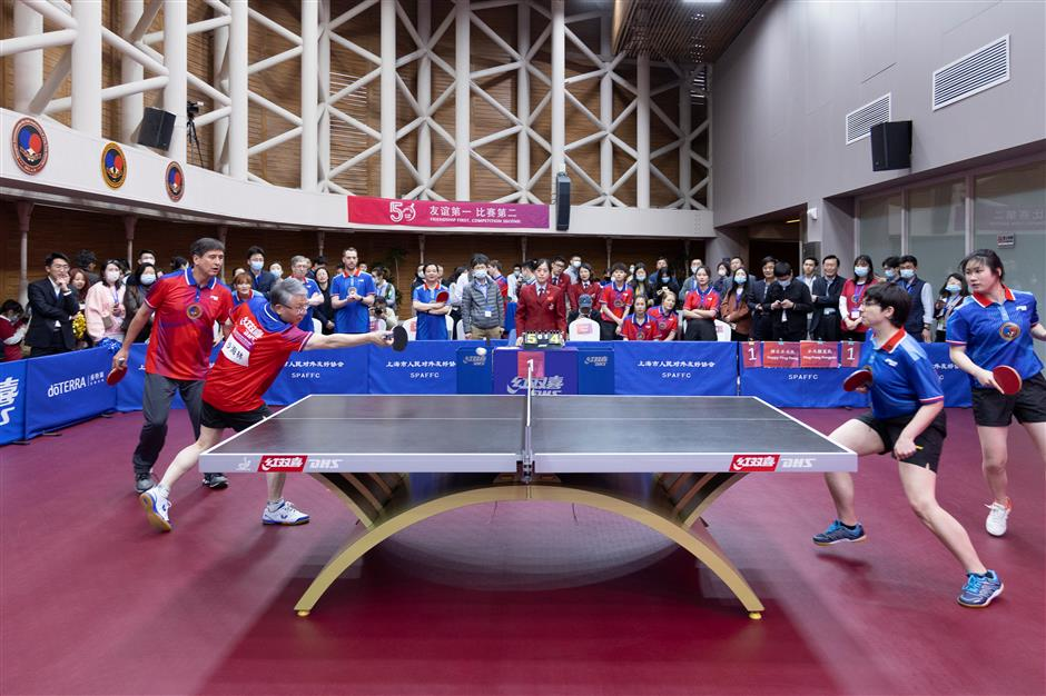 Friendly table tennis partners laud grassroots ties