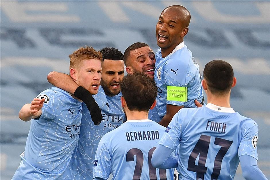 Mahrez double takes Man City into first Champions League final