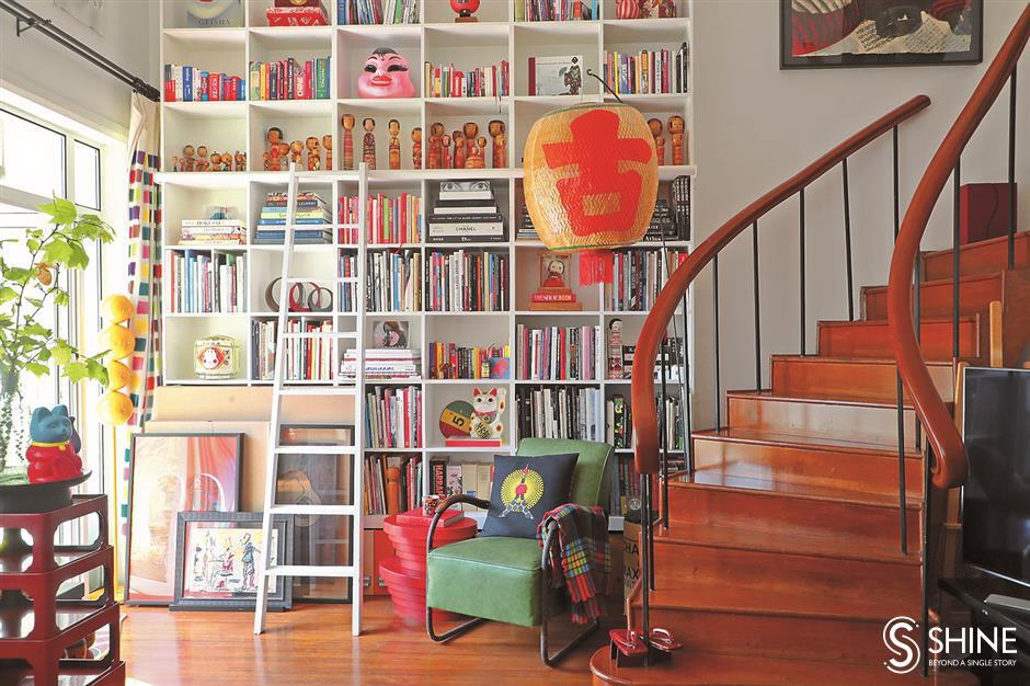 A Zen space, but written in bold colors