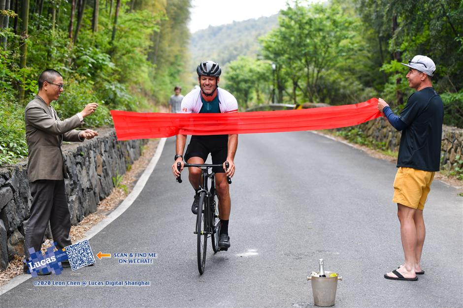Climbing Mount Everest is hard enough, pedaling the distance is a grueling challenge