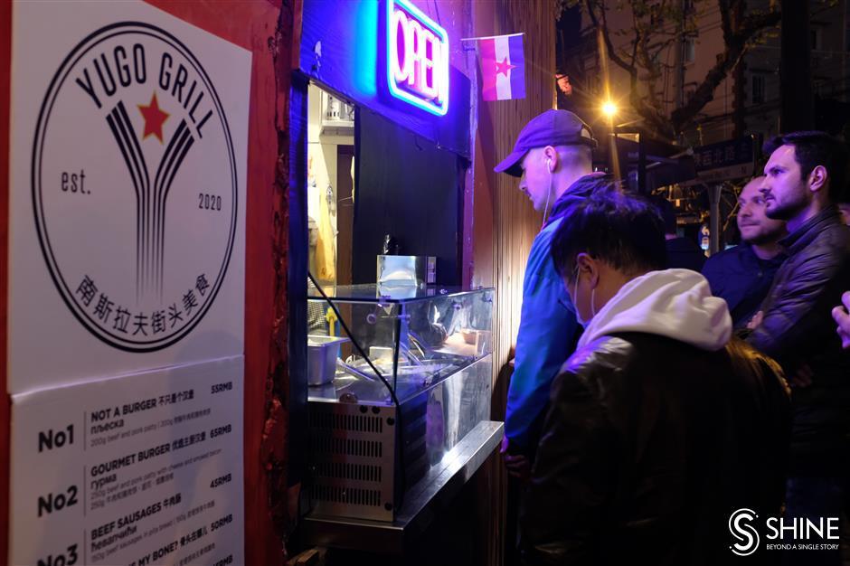 Unique Shanghai burger with a Balkan twist