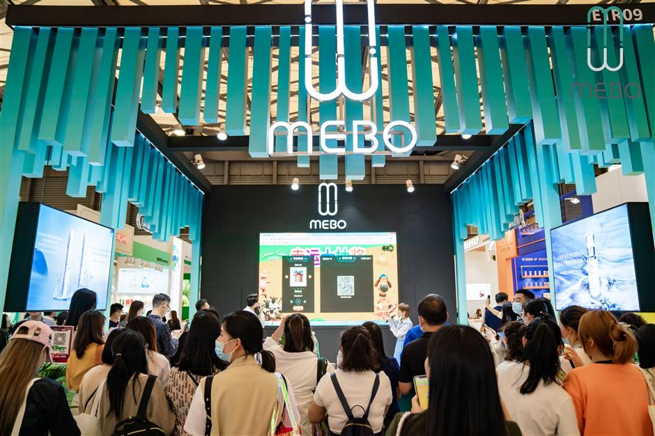 Cosmetics and personal-care brands take part in beauty expo