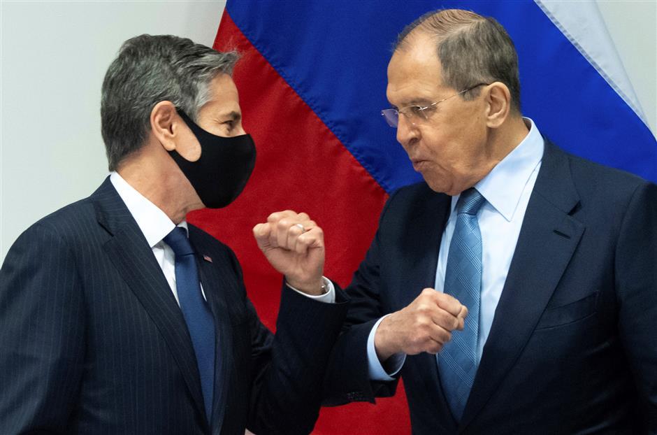 Blinken, Lavrov spar politely in their first face-to-face meeting