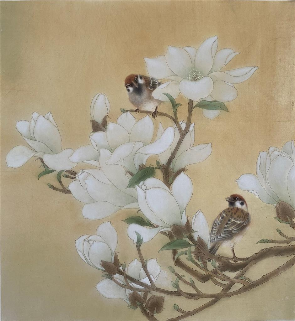 Solitary dedication to flower-and-bird art