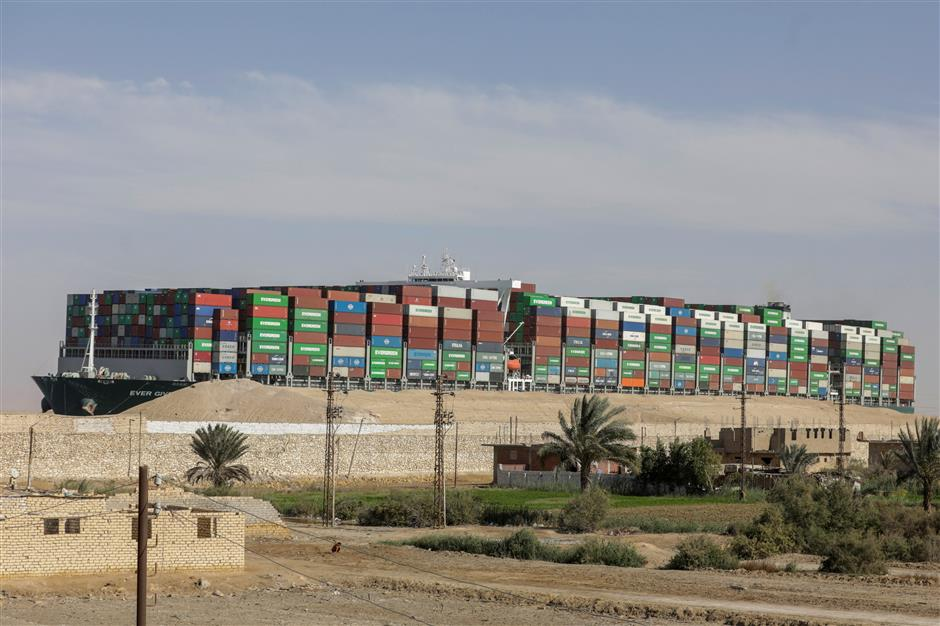 Court says Suez authority can hold container ship