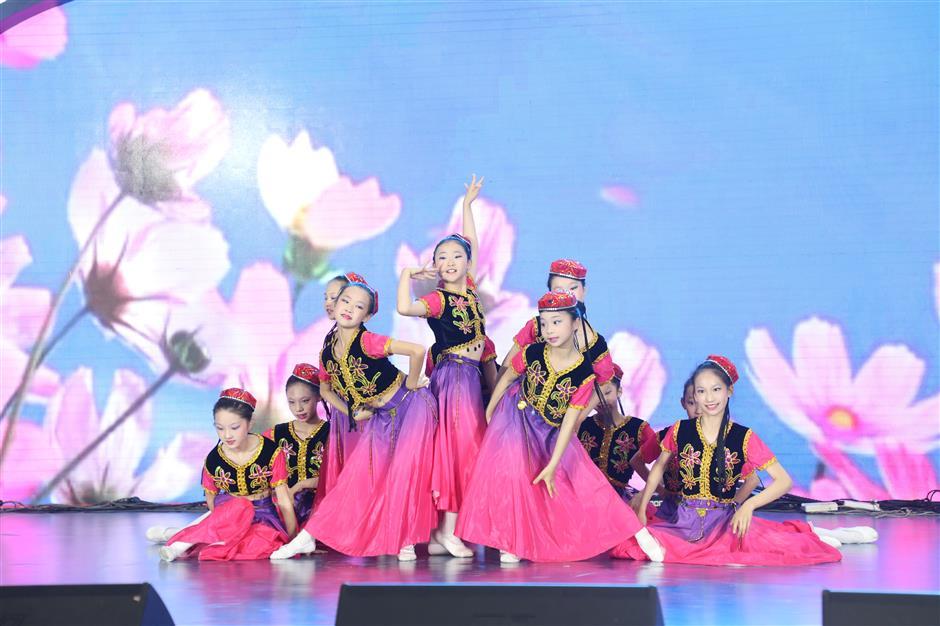 Festive carnival for kids at flower expo