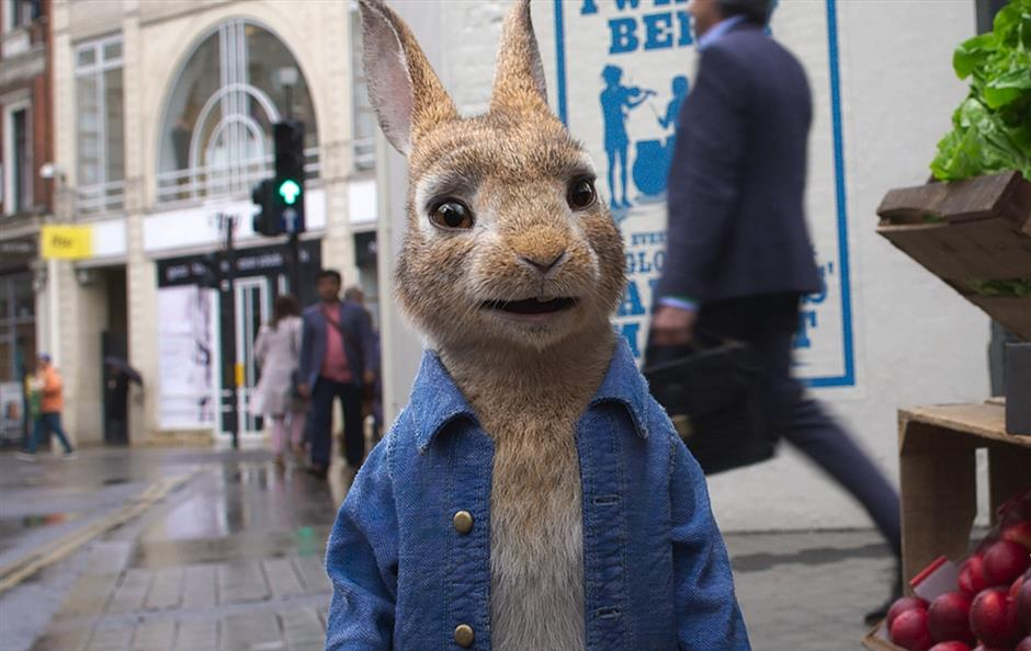 Peter Rabbit is back, as a big city runaway