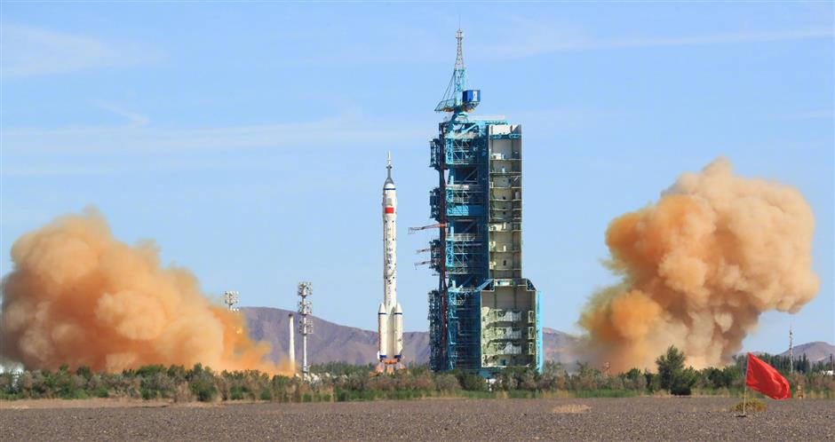 China launches 1st crewed mission for space station construction
