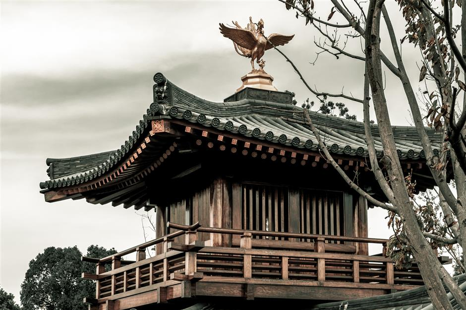 Timber temple evokes debate over origins of its architectural style
