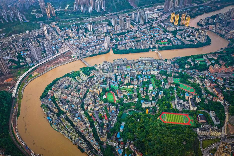 Over 20,000 evacuated after flood hits China's Chongqing
