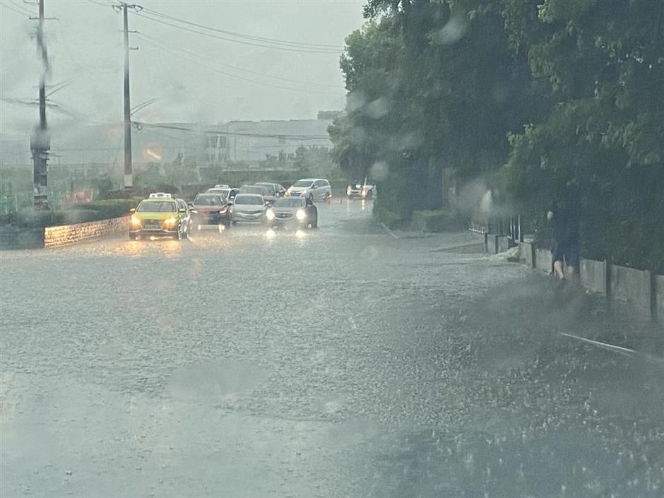 Heavy rains, strong winds trigger alerts across city