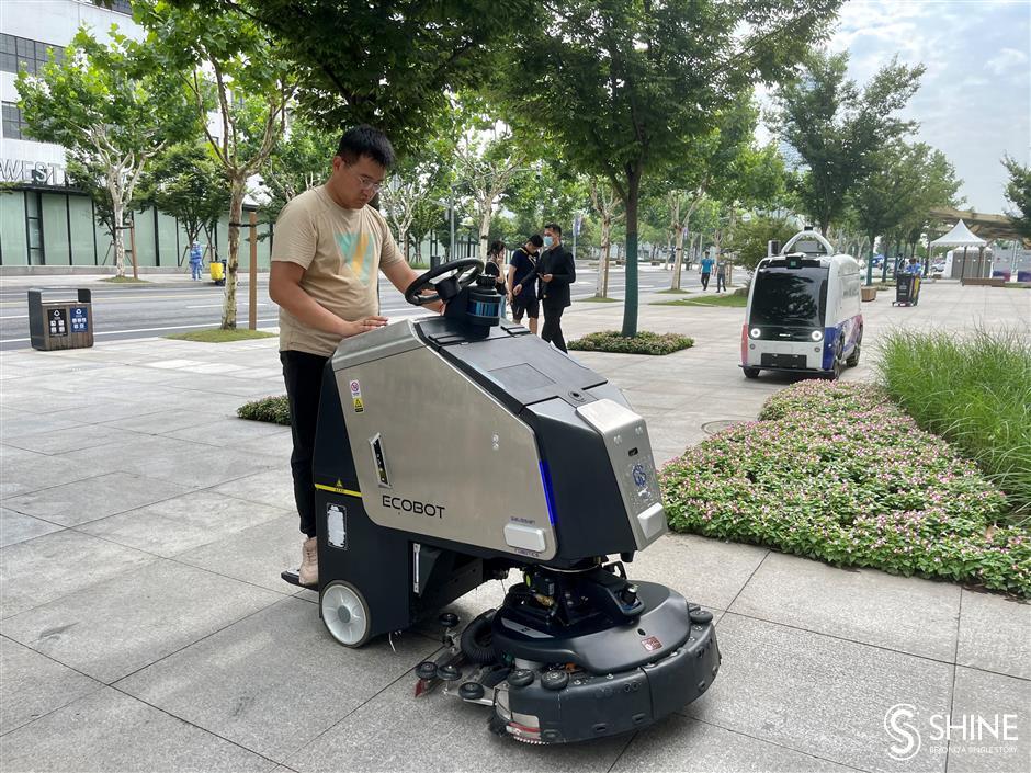 Robots strut their skills on West Bund waterfront