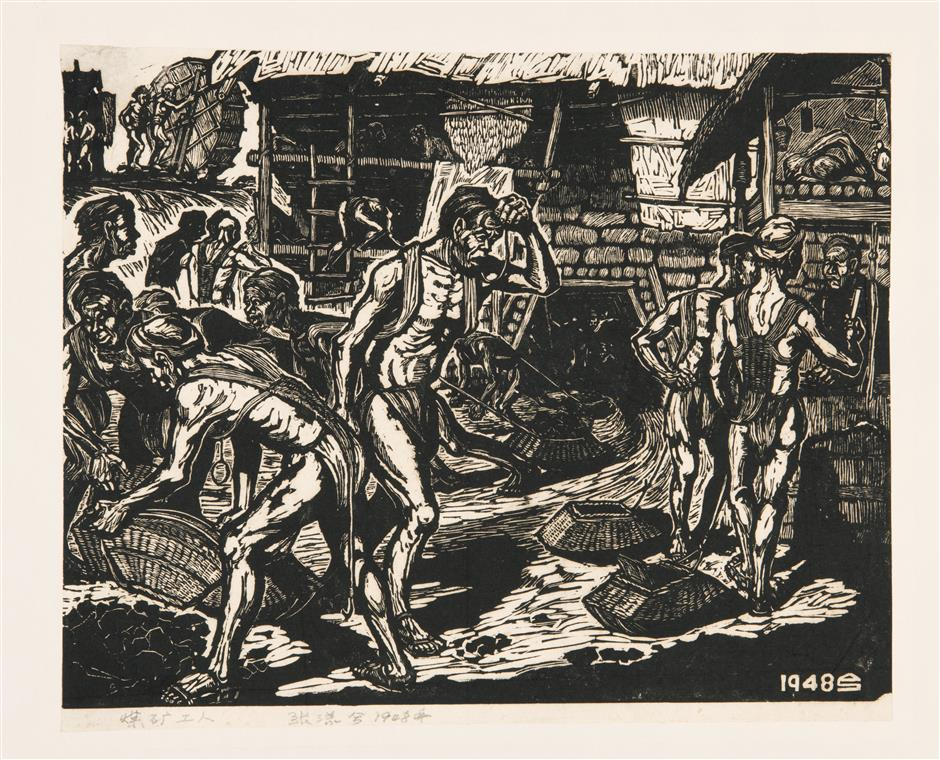 Influence of masters not lost in woodcut art