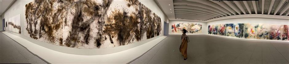 Works of Chinese fireworks artist explode into Pudong museum
