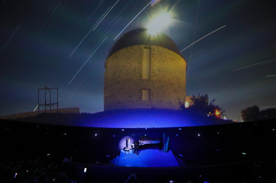 Concert and laser show take audience on space journey
