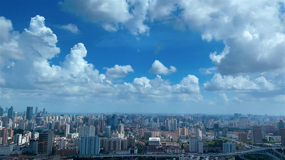Hot day, but city residents welcome a 'crystal sky' delight