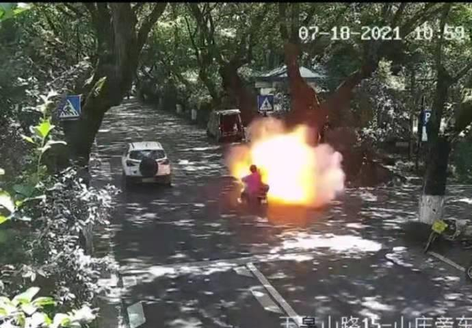 E-bike explosion leaves dad and daughter in critical condition