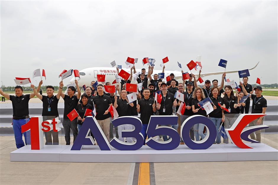 Airbus begins A350 deliveries in Tianjin