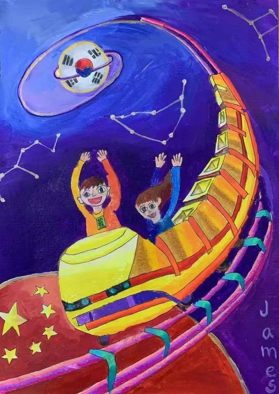 Kids' art depicts dreams of a post-COVID-19 future