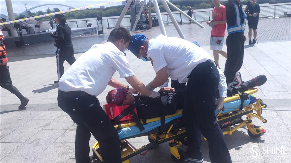 Rescue crews prepare for ferry accidents on Huangpu River