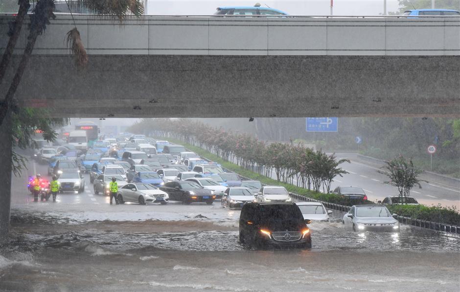 Typhoon Cempaka makes landfall in China's Guangdong