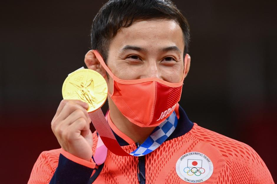 Host judoka claims Japan's first gold medal at Tokyo Olympics