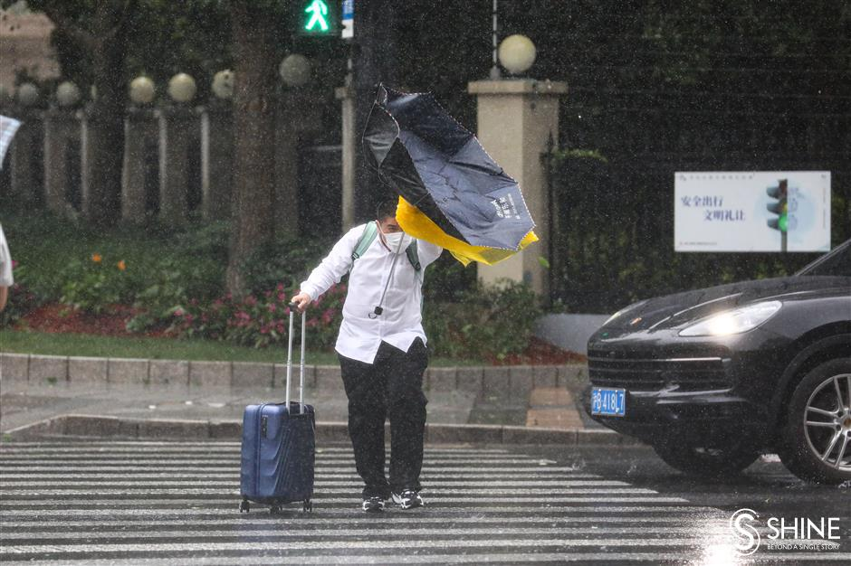 It's raining hard out there in Shanghai!