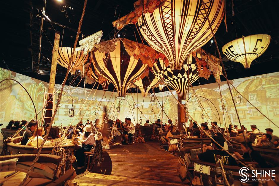 Take a hot-air balloon ride around the world in immersive theater show