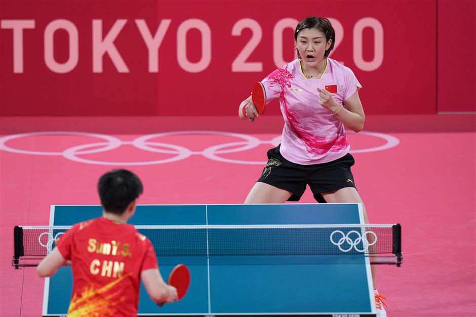 Chen wins all-Chinese women's singles final in Olympic table tennis