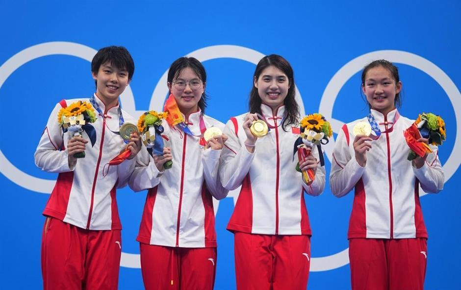 China shatters world record to win women's 4x200m freestyle relay at Tokyo Olympics