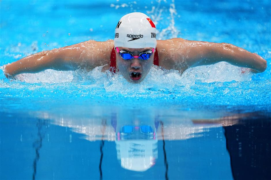 China's Zhang shatters Olympic record to win women's 200m butterfly gold at Tokyo Olympics