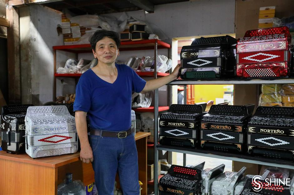 Accordion maker subsists in squeezed industry