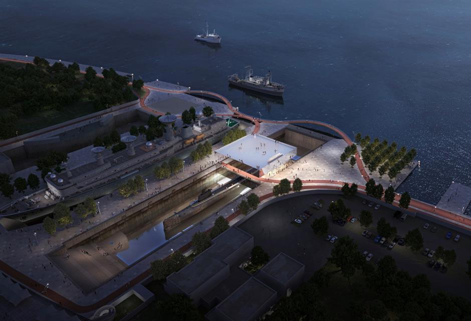 Il primo museo sottomarino della città a salire dal punto di riferimento storico del cantiere navale
