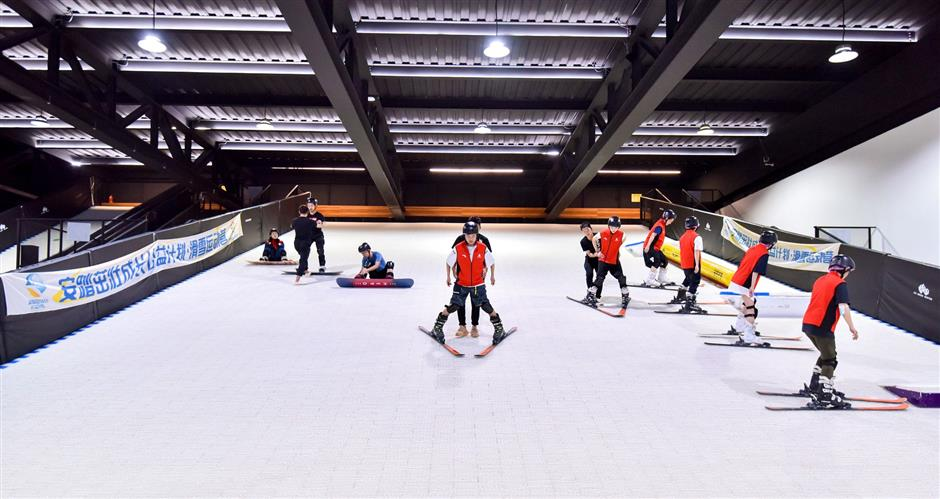 You can enjoy a ski run in the city, even if the snow isn't real