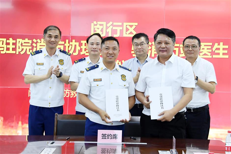 Firefighters, doctors now work for each other in Minhang