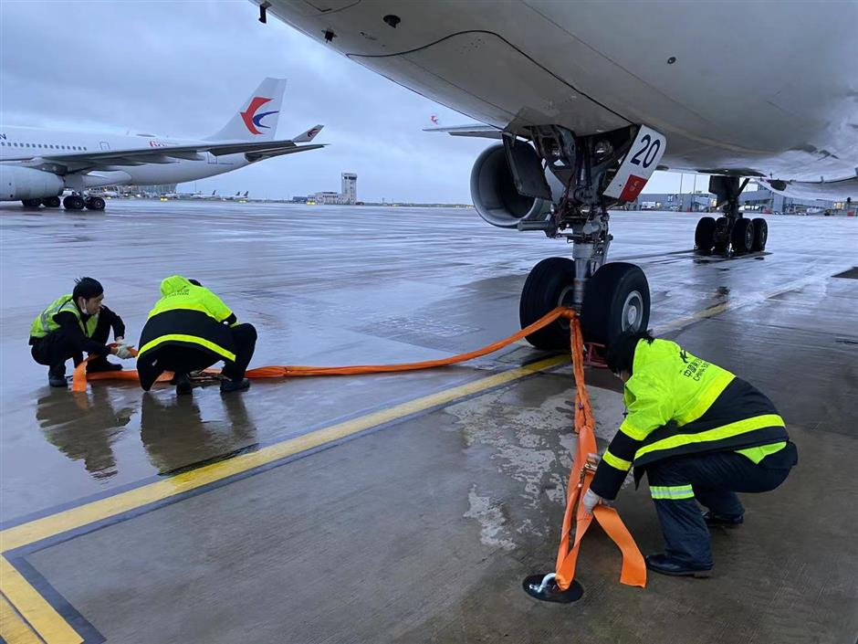 Aircraft secured to tarmacs as Typhoon Chanthu approaches