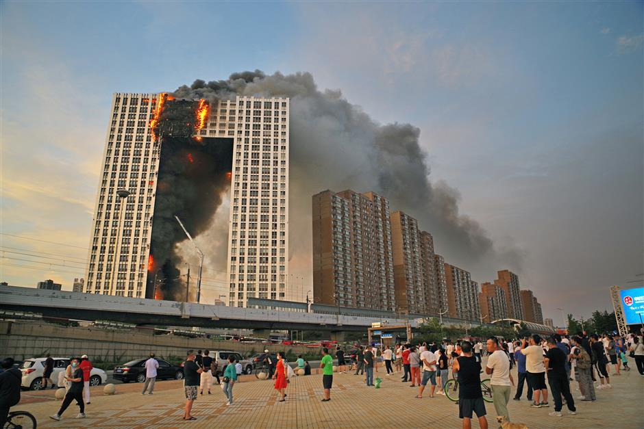 Fire in Dalian high-rise caused by electrical outlet