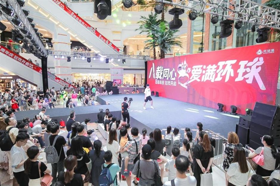 Global Harbor mall marks anniversary with art, charity events