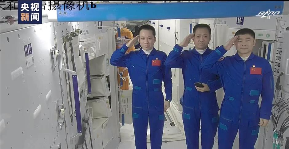 Shenzhou-12 separates from space station core module