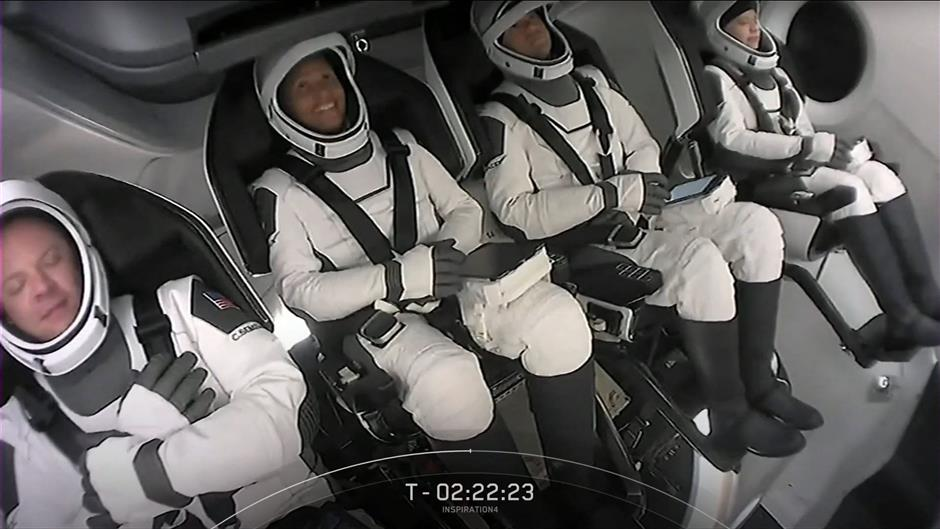 'Many will follow:'SpaceX sends all-civilian crew into orbit