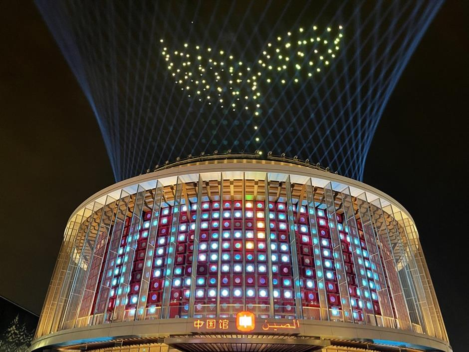 China Pavilion's light show lights up Dubai expo