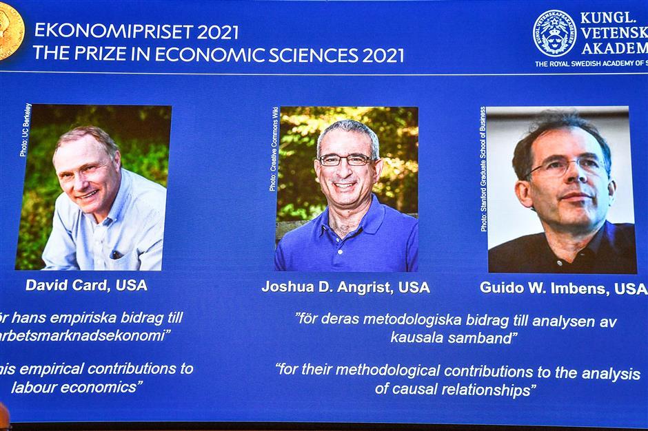 Trio win economic Nobel for 'natural experiments'