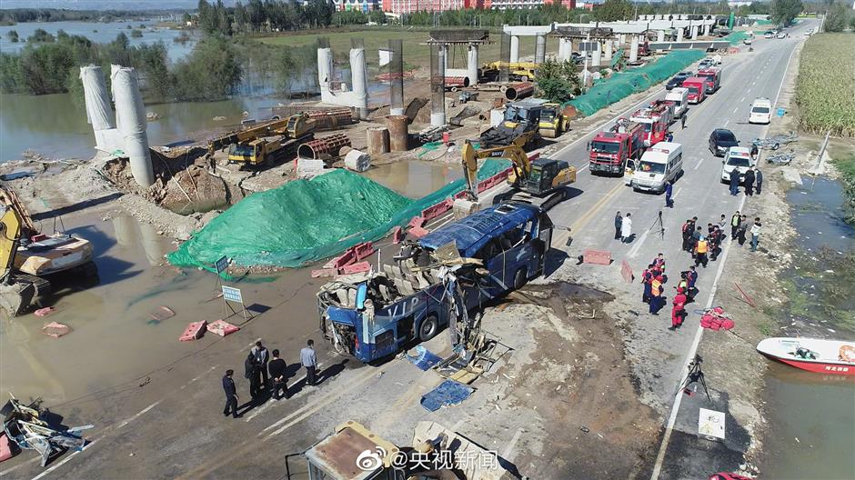 13 die, 1 missing as bus falls into river