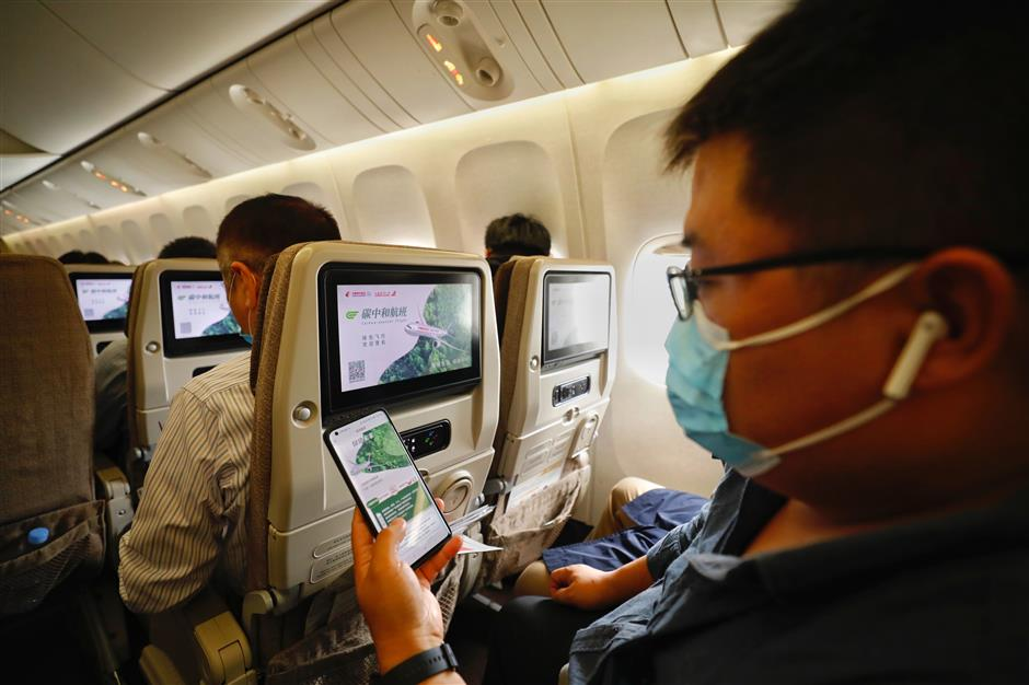 First carbon-neutral flight takes off from Shanghai