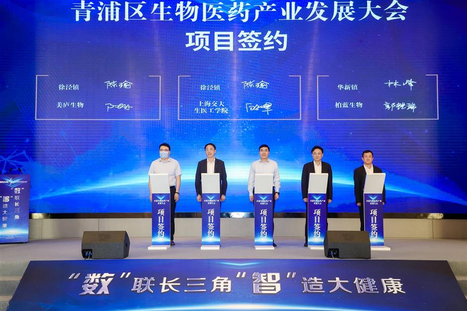 Qingpu unveils ambitious pharma development plans