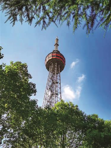 Songjiang television tower continues to radiate
