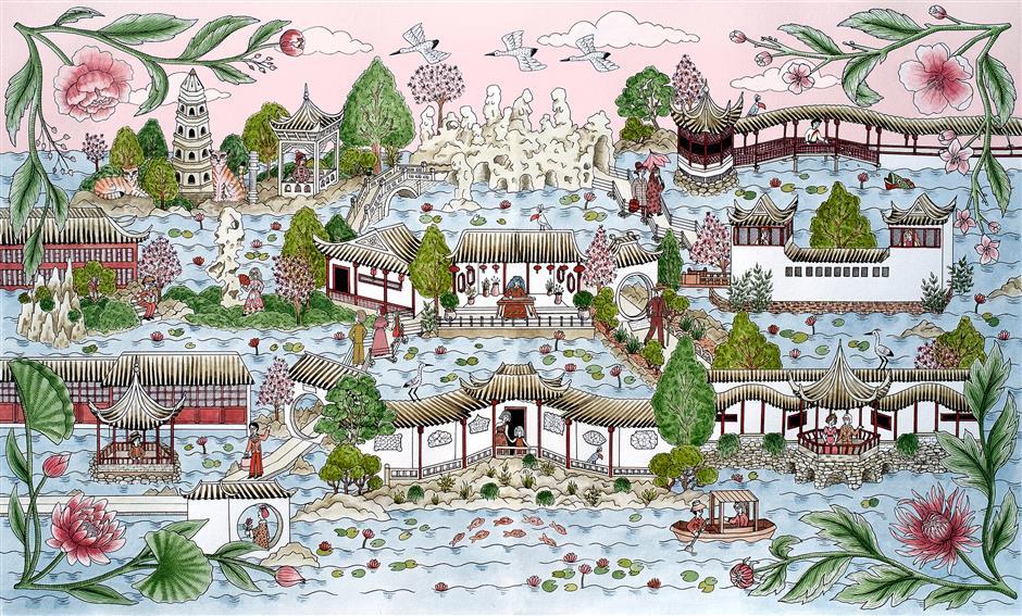Festival celebrating illustrative artwork kicks off at West Bund