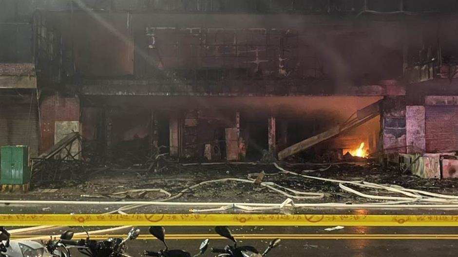 46 dead, dozens injured in Taiwan building fire